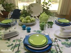 July 22, 2016 Lapis, pearl gray, shamrock, and chartreuse fiesta.