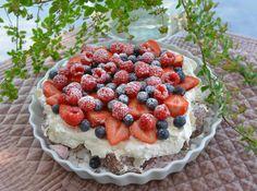 Denne kage du gøre i 10 minutter! Ny favorit - Franciska Beautiful World Cookie Recipes, Dessert Recipes, Great Recipes, Favorite Recipes, Norwegian Food, Sweet Cakes, Pavlova, Easy Desserts, Tapas