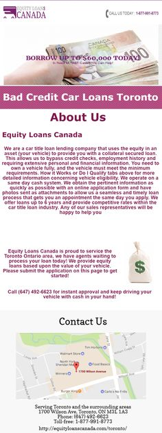 Information for Bad Credit Car Loans in Toronto, see more at