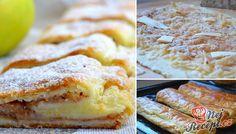 Tvarohové těsto je velmi křehké a chutné. Nemáte co pokazit a určitě vám při pečení nepopraská jako některé kynutá těsta. Určitě vyzkoušejte, je to mňamka! Autor: Lacusin German Cake, Apple Pie, French Toast, Muffin, Dessert Recipes, Cooking Recipes, Treats, Dishes, Baking