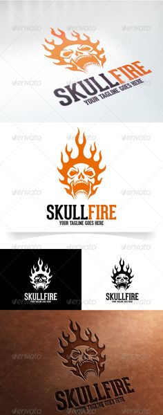 Buy Skull Fire Logo Template by VectorCrow on GraphicRiver. Great Skull Fire Logo Template for your company File included : . Web Banner Design, Logo Design Template, Logo Templates, Skull Template, Samurai Drawing, Skull Fire, Sweet Logo, Draw Logo, Skull Stencil