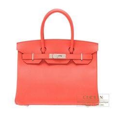 Hermes Birkin bag 30 Rose jaipur Epsom leather Silver hardware