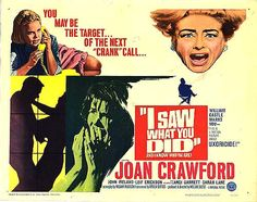 1965 MGM Movie Posters | RECENTLY VIEWED: I SAW WHAT YOU DID
