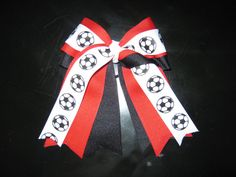 Soccer Hair Bow Team Orders Welcomed by NotAnotherHairBow on Etsy, $8.00