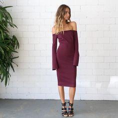 Bec & Bridge Banditti Off The Shoulder Dress- Claret Summer Dresses 2014, Off The Shoulder, Shoulder Dress, Strapless Dress, Bridge, Boutique, Elegant, Minimal, Inspiration
