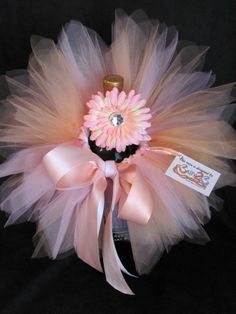 Newborn Baby Tutu Set in peach and pink...Baby Shower Centerpiece...Baby Gift. $31.00, via Etsy.