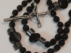 BOYS LAVA STONE Rosary First Communion Confirmation Male Rosary Boy Religious Godparent Gift rica Engraved Lava Stone Rock by DevotionDiva on Etsy