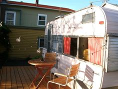 Trailer Hair Salon, Holiday Hair Studio, green renovation, trailer, camper, caravan, remodeled camper, portland