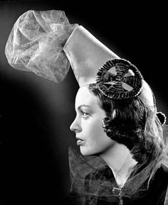 "A very unique ""canon hat"" from 1939. #vintage #1930s #hats"