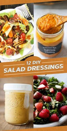 12 Addictive Salad Dressing Recipes To Make In Bulk – salad-recipes. Salad Dressing Recipes, Salad Recipes, French Salad Dressings, Avocado Recipes, Fruit Recipes, Pasta Recipes, Sauces, Balsamic Dressing, Dips