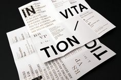RAMACIERI SOLIGO / SHOWROOM OPENING INVITATION by Emanuel Cohen, via Behance
