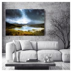 Extra large wall art - Modern rustic art - METAL landscape photography - Scottish mountains - dramatic art - loft art - READY to HANG
