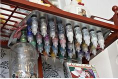 Tips for using magnetic storage in the craft room via www.craftstorageideas.com