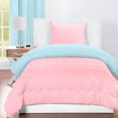 Crayola Sky Blue Comforter Sets (Twin), Blue Pink