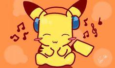 Pikachu con audífonos