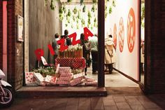 The PIZZA party room just a few steps from the LUCY FOLK flagship store... !!