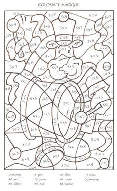 Coloriage Magique Cp à colorier - Dessin à imprimer