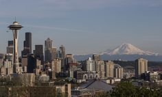 Seattle skyline and Mt. Rainier in the distance | The Seattle Times