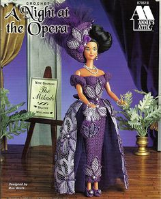 A Night at the Opera Fashion Doll Crochet Pattern Annies Attic 870518
