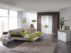 Ladina bedroom is luxury bedroom suite that is a soft white veneer with contrasting wooden panels. This bedroom suite consists of wardrobe with mirror Source:http://www.chromatiche.com/bedroom---ladina-43-p.asp