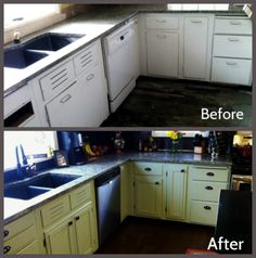 DIY, Refacing your Kitchen Cabinets Before and After! ~The Prairie Princess~