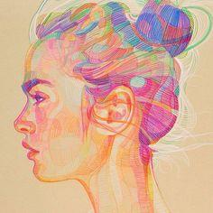 Prismatic portrait by Lui Ferreyra.