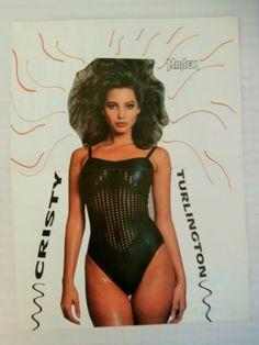 Christy Turlington Kurt Cobain Double Side Mini Poster 1980's Greek Magazine   eBay