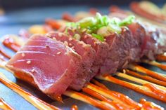 Since Mikuni has been innovating fresh Japanese dishes and serving eclectic sushi in a lively dining experience. Visit a location today! Raw Tuna, Sushi Sushi, Japanese Dishes, Rice Vinegar, Sashimi, Nom Nom, Seafood, Spicy, Lunch