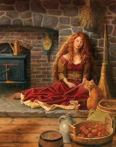 Celtic goddess Brighid. This guardian of hearth and home is celebrated in her aspect as a fire goddess.