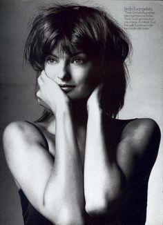 """Nobody's Perfect"". Linda Evangelista photographed by Irving Penn for US Vogue, September 1994"