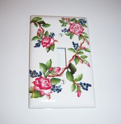 Pink Climbing Roses - single light switch cover by MoanasUniqueDesigns on Etsy