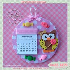 Doce Arte by Pati Guerrato: Mini calendários Kids Crafts, Foam Crafts, Crafts To Make, Paper Crafts, Flower Arrangements Simple, Dollar Tree Decor, Felt Owls, Mothers Day Crafts, Craft Sale