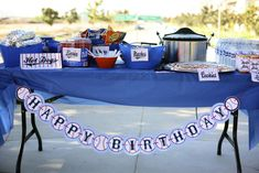 Vintage Baseball Birthday Party Ideas | Photo 2 of 10 | Catch My Party
