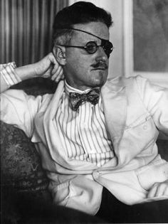 "James Joyce wearing an eye patch. Joyce never actually lost an eye, but he claimed the patch helped his failing eyesight.     Perhaps the eye patch was also symbolic—Joyce was enamored of the Cyclops in Greek mythology and in fact Episode 12 of his novel ""Ulysses"" was titled ""The Cyclops."""