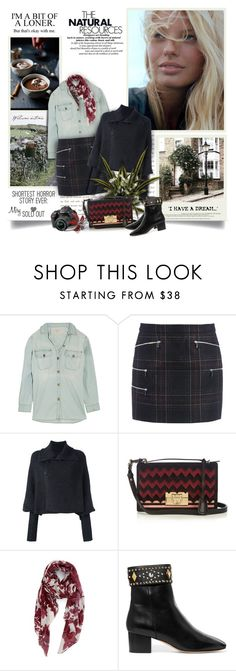 """The Natural Resources"" by thewondersoffashion ❤ liked on Polyvore featuring Current/Elliott, Barbara Bui, Y's by Yohji Yamamoto, Salvatore Ferragamo, Nordstrom, Sandro and Nikon"
