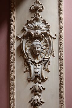 Plasterwork wall panel by Giovanni Bagutti from the Great Staircase designed in the 1720s by James Gibbs at Wimpole Hall, Cambridgeshire | Flickr - Photo Sharing!