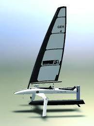 Resultado de imagen para catamaran hydrofoil design