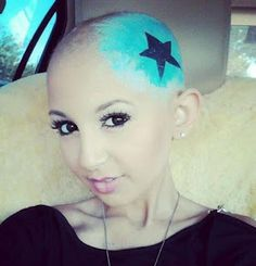 Makeup is her wig... lovely interview with 13 year old cancer patient Talia Joy.