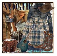"""""""Cowgirl"""" by annabu ❤ liked on Polyvore featuring American Eagle Outfitters, Abercrombie & Fitch, Topshop, Hollister Co., Old Gringo, Lucky Brand, fringe, cowgirl, denimjackets and westernboots"""