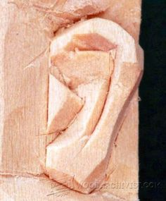 Carving Ear - Wood Carving Patterns and Techniques | WoodArchivist.com