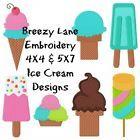 Ice Cream Machine Embroidery Design Set 4X4 & 5X7 on CD