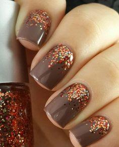 Thanksgiving-Nail-Art-Ideas fall nail art autumn, nails for autumn, Fancy Nails, Love Nails, How To Do Nails, Pretty Nails, Style Nails, Pretty Eyes, Nagellack Design, Nagellack Trends, Fall Nail Art Designs