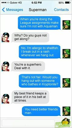 Superman saying batman is his best friend? I don't buy that for one second