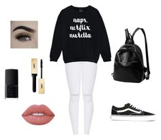 """Outfit"" by vicky-skoufh on Polyvore featuring Vans, NARS Cosmetics, Yves Saint Laurent and Lime Crime"