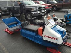 1968 Evinrude Skeeter Snowmobile and Matching Cutter Sled
