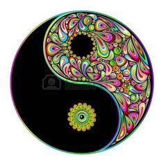Yin Yang Symbol Psychedelic Art Design