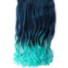 Girl's Wave Curly Clip Hair Piece Colorful Gradient Ombre Hairpieces Extensions Dark Blue-Light Blue * This is an Amazon Affiliate link. Learn more by visiting the image link.