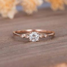 Moissanite Verlobungsring Rose Gold Solitaire Marquise Diamant Braut Ring zierli… Moissanite Engagement Ring Rose Gold Solitaire Marquise Diamond Bridal Ring Dainty Promise Ring Anniversary Wedding Gift For Her Engagement Ring Rose Gold, Vintage Engagement Rings, Halo Engagement, Nature Engagement Rings, Engagement Ring Simple, Wedding Rings Simple, Wedding Rings For Women, Anniversary Gift For Her, Wedding Anniversary