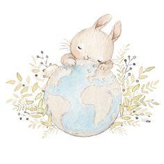 Pink Unicorn Wallpaper, Baby Wallpaper, Bunny Drawing, Bunny Art, Easter Illustration, Watercolor Illustration, Nursery Drawings, Nursery Art, Lapin Art