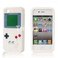 awesome Game Boy Style Soft Silicone Case for iPhone 4 White - FROM 3.18 € (free shipping)